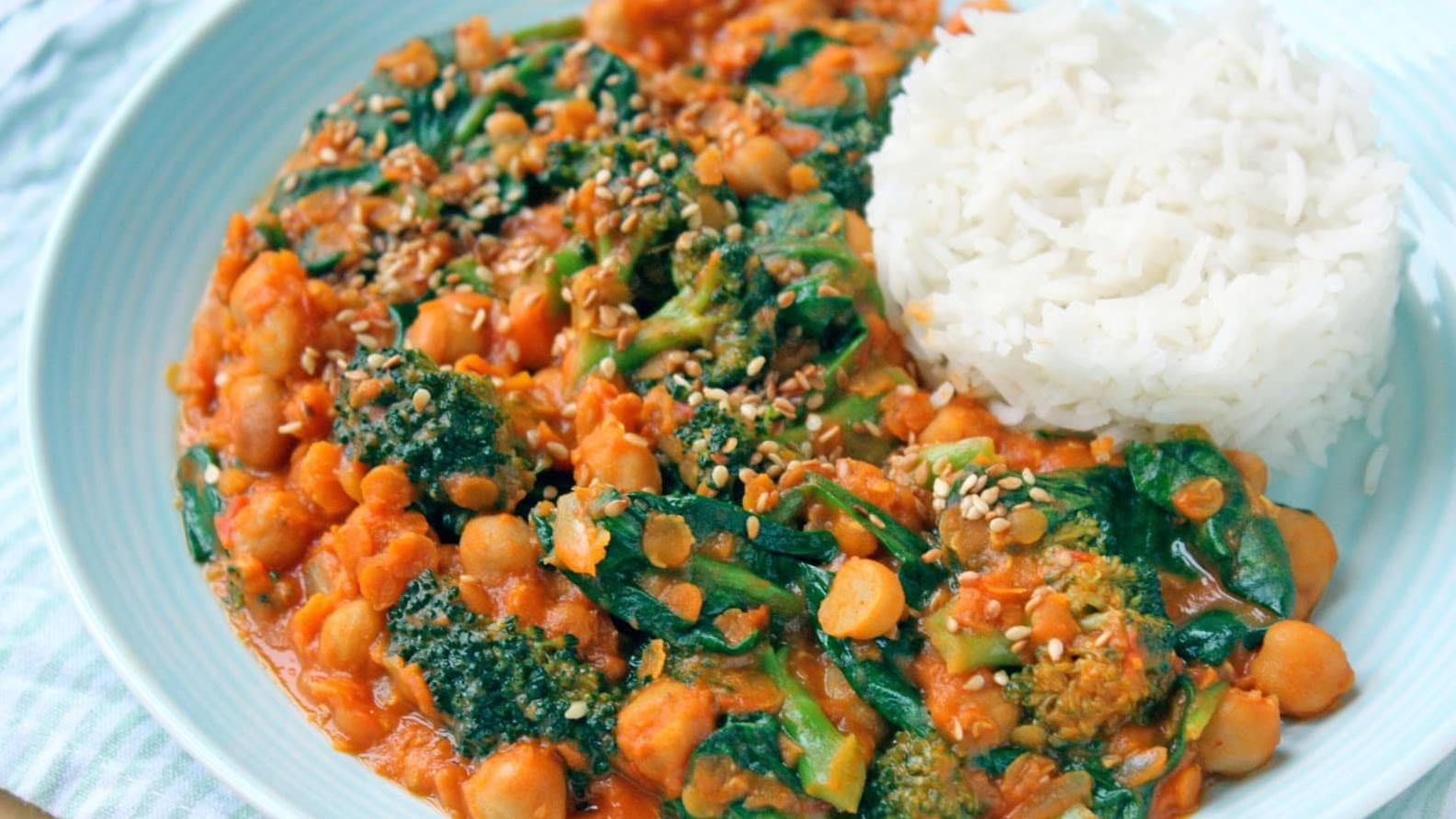 Groentecurry met broccoli